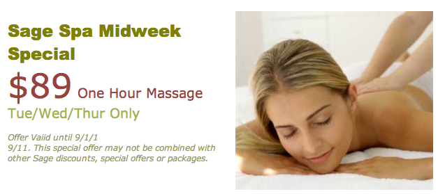 Sage Spa Midweek Special