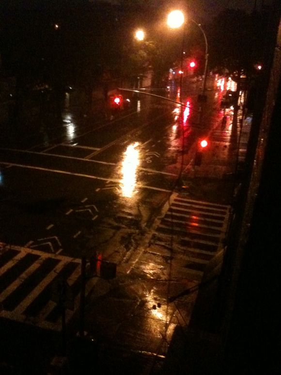 Irene arrived, Brooklyn eerily quiet
